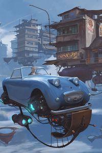Preview wallpaper future, car, technology