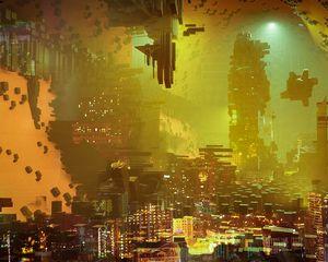Preview wallpaper future, city, fiction, art