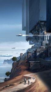 Preview wallpaper future, fantasy, spaceship, art