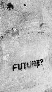Preview wallpaper future, inscription, text, word, wall
