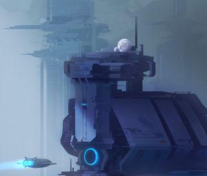 Preview wallpaper future, station, sci-fi, fantastic, art