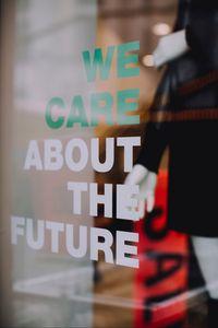 Preview wallpaper future, text, inscription, words