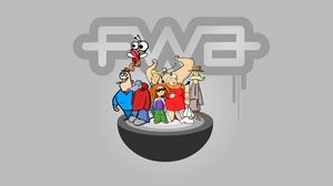 Preview wallpaper fwa, people, cartoon, colorful, company