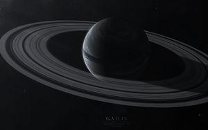 Preview wallpaper gailis, planet, rings, stars, space