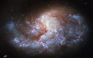 Preview wallpaper galaxy, glow, nebula, stars, glare, space