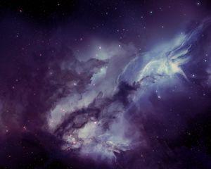 Preview wallpaper galaxy, nebula, blurring, stars