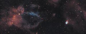 Preview wallpaper galaxy, nebula, glow, stars, shine, space