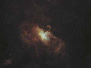 Preview wallpaper galaxy, nebula, glow, space, stars, dark