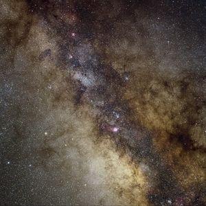 Preview wallpaper galaxy, nebula, stars, glare, space, dark