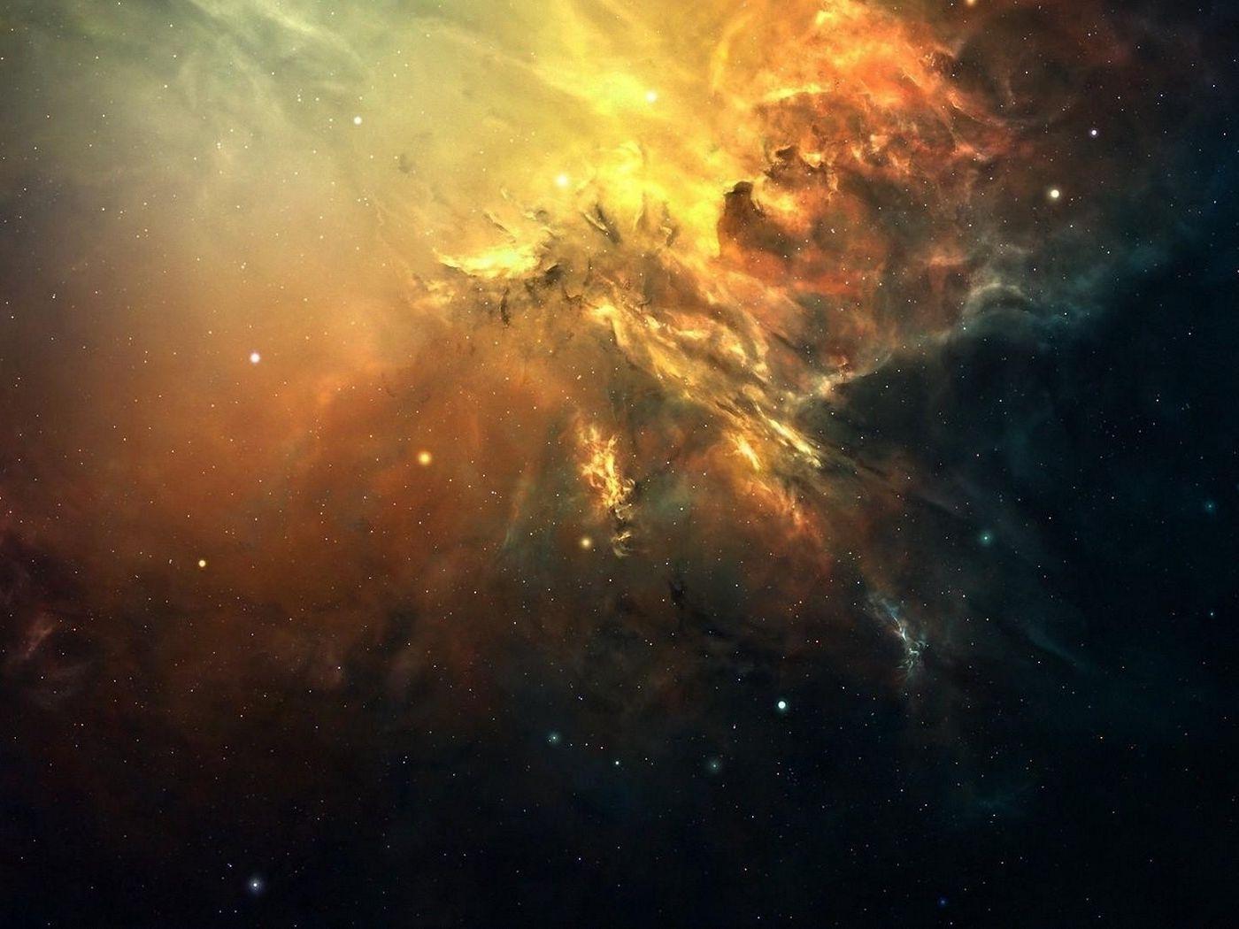 1400x1050 Wallpaper galaxy, space, light, stars, nebula