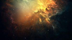 Preview wallpaper galaxy, space, light, stars, nebula