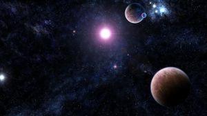 Preview wallpaper galaxy, stars, universe, light, planet