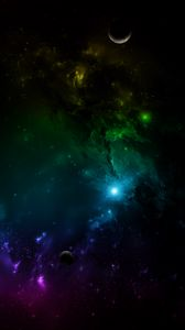 Preview wallpaper galaxy, universe, space, planets, multi-colored
