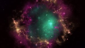 Preview wallpaper galaxy, universe, stars, portal, nebula, cluster, outer space