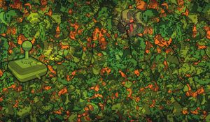Preview wallpaper game, console, green, surface, acid