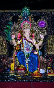 Preview wallpaper ganesha, deity, god, statue, idol, religion
