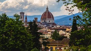 Preview wallpaper garden, architecture, buildings, flowering, florence, italy