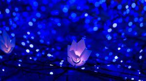 Preview wallpaper garland, glare, bokeh, light, christmas, new year