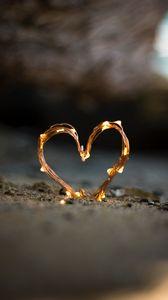 Preview wallpaper garland, heart, love