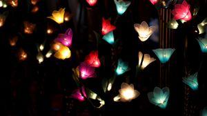 Preview wallpaper garland, lighting, flowers
