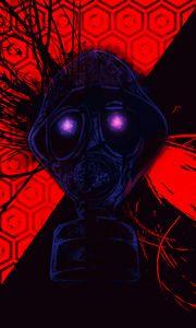 Preview wallpaper gas mask, mask, radiation, art
