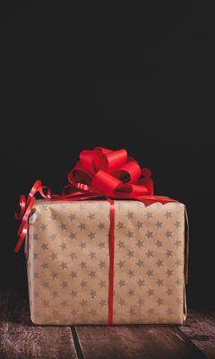 240x400 Wallpaper gift, box, bow, holiday
