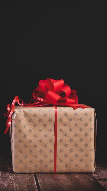 360x640 Wallpaper gift, box, bow, holiday