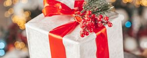 Preview wallpaper gift, box, christmas, new year, holidays