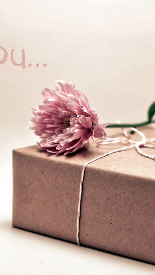 540x960 Wallpaper gift, box, flower
