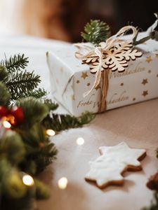 Preview wallpaper gift, box, holiday, christmas, new year