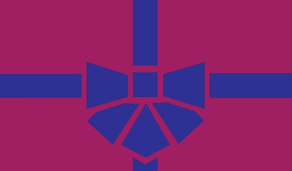1024x600 Wallpaper gift, box, ribbon, bow, minimalism, vector