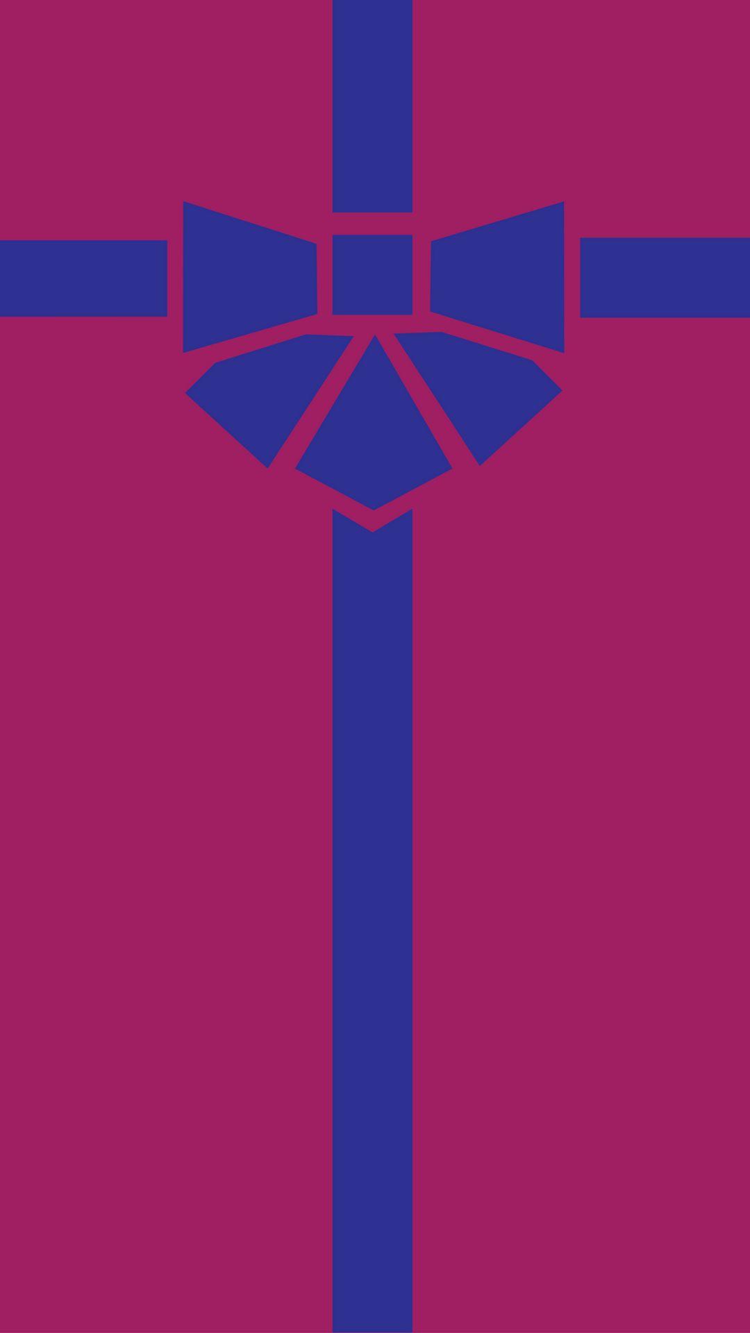 1080x1920 Wallpaper gift, box, ribbon, bow, minimalism, vector