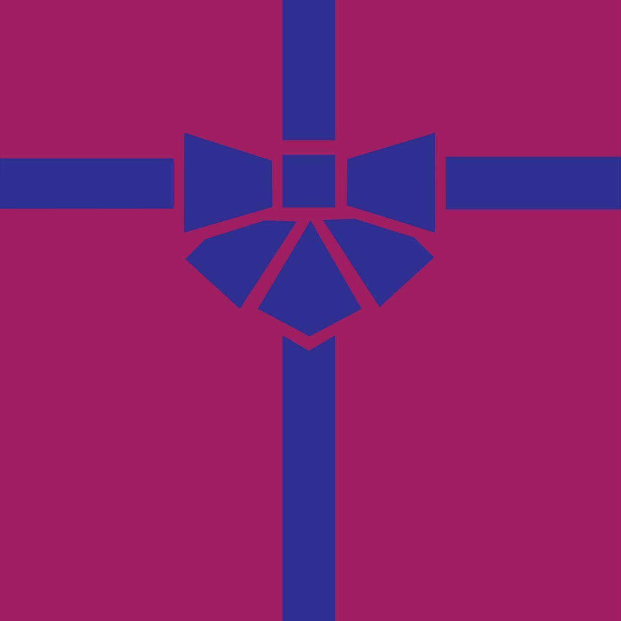 1280x1280 Wallpaper gift, box, ribbon, bow, minimalism, vector