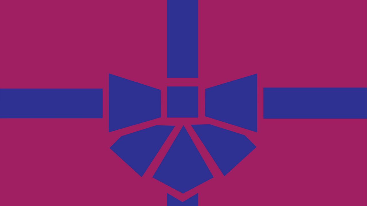 1280x720 Wallpaper gift, box, ribbon, bow, minimalism, vector