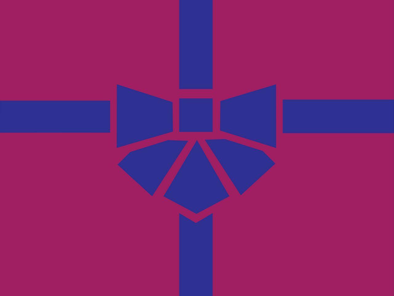 1280x960 Wallpaper gift, box, ribbon, bow, minimalism, vector