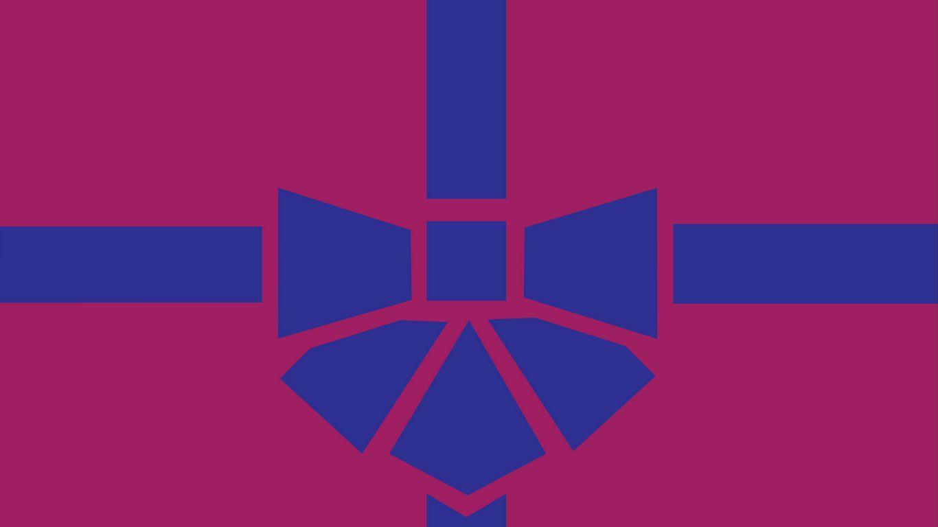 1366x768 Wallpaper gift, box, ribbon, bow, minimalism, vector