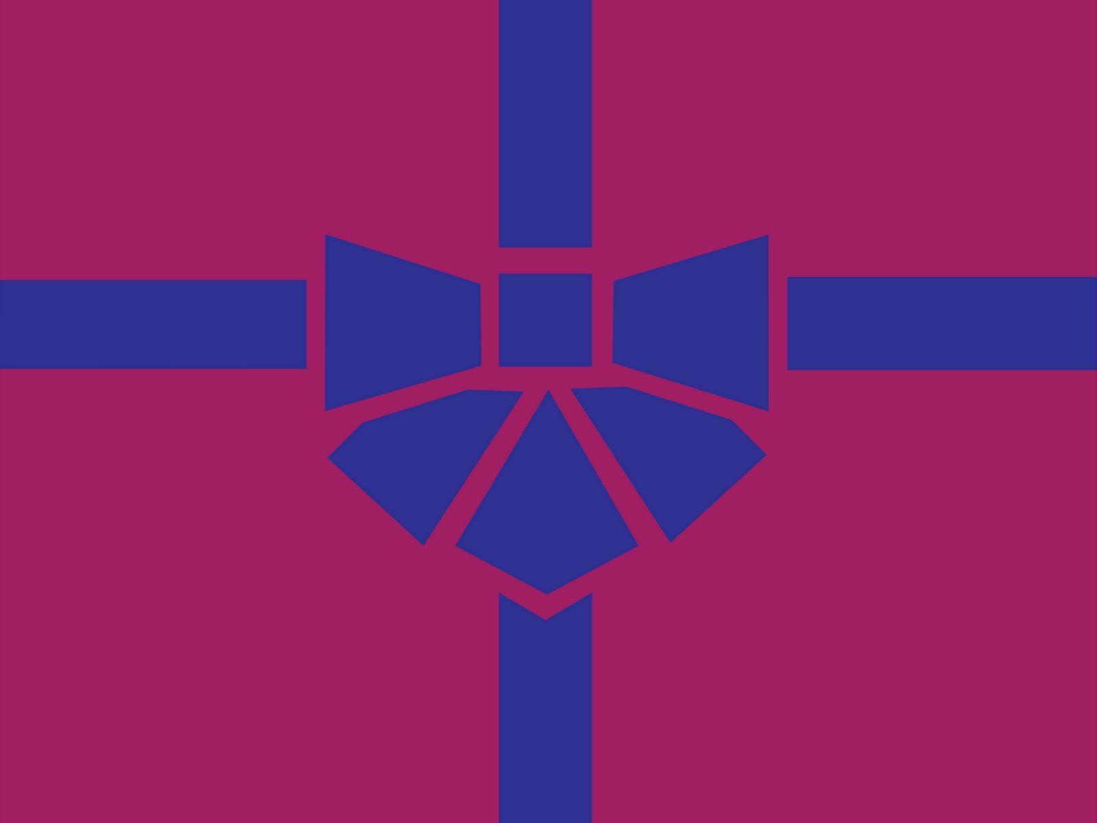 1600x1200 Wallpaper gift, box, ribbon, bow, minimalism, vector