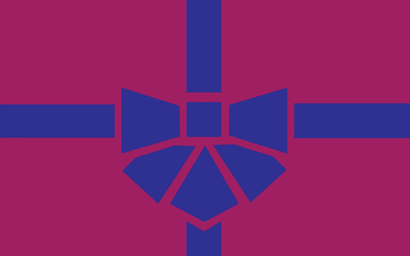 1680x1050 Wallpaper gift, box, ribbon, bow, minimalism, vector
