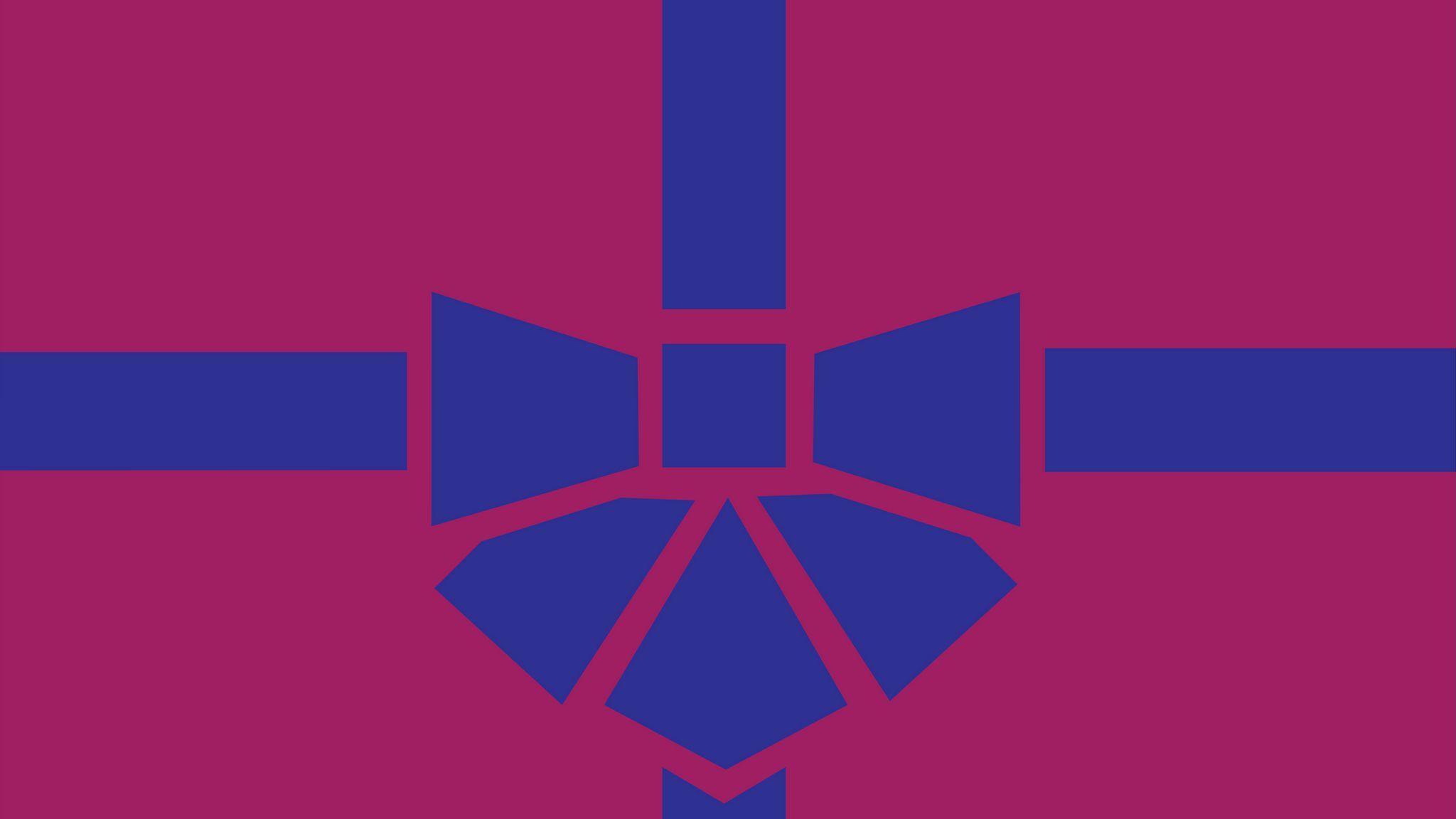 2048x1152 Wallpaper gift, box, ribbon, bow, minimalism, vector