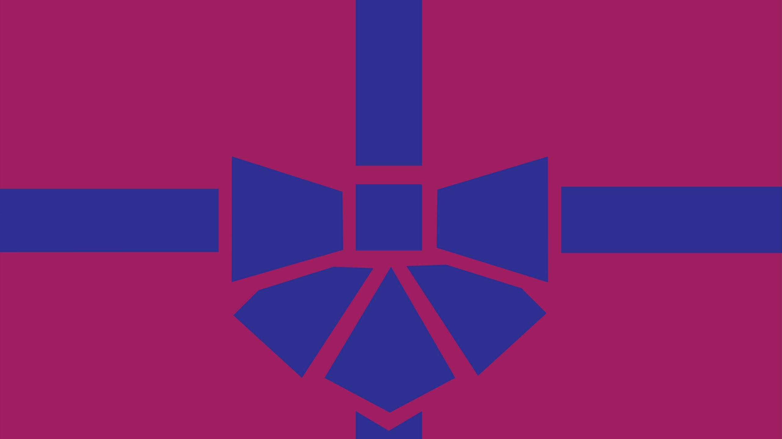 2560x1440 Wallpaper gift, box, ribbon, bow, minimalism, vector