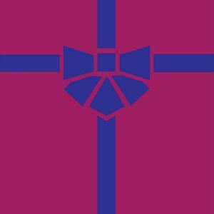 Preview wallpaper gift, box, ribbon, bow, minimalism, vector