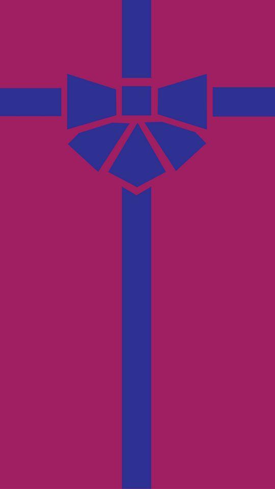 540x960 Wallpaper gift, box, ribbon, bow, minimalism, vector