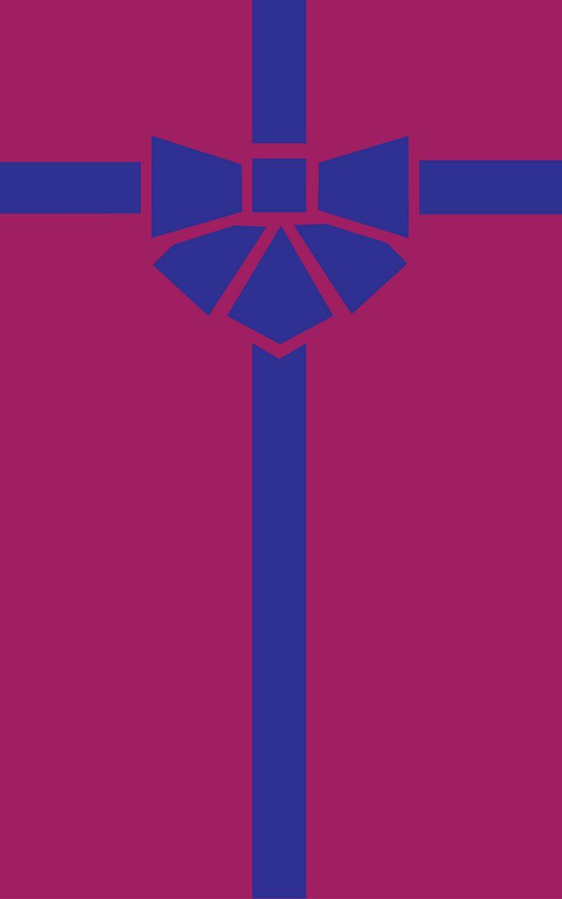 800x1280 Wallpaper gift, box, ribbon, bow, minimalism, vector