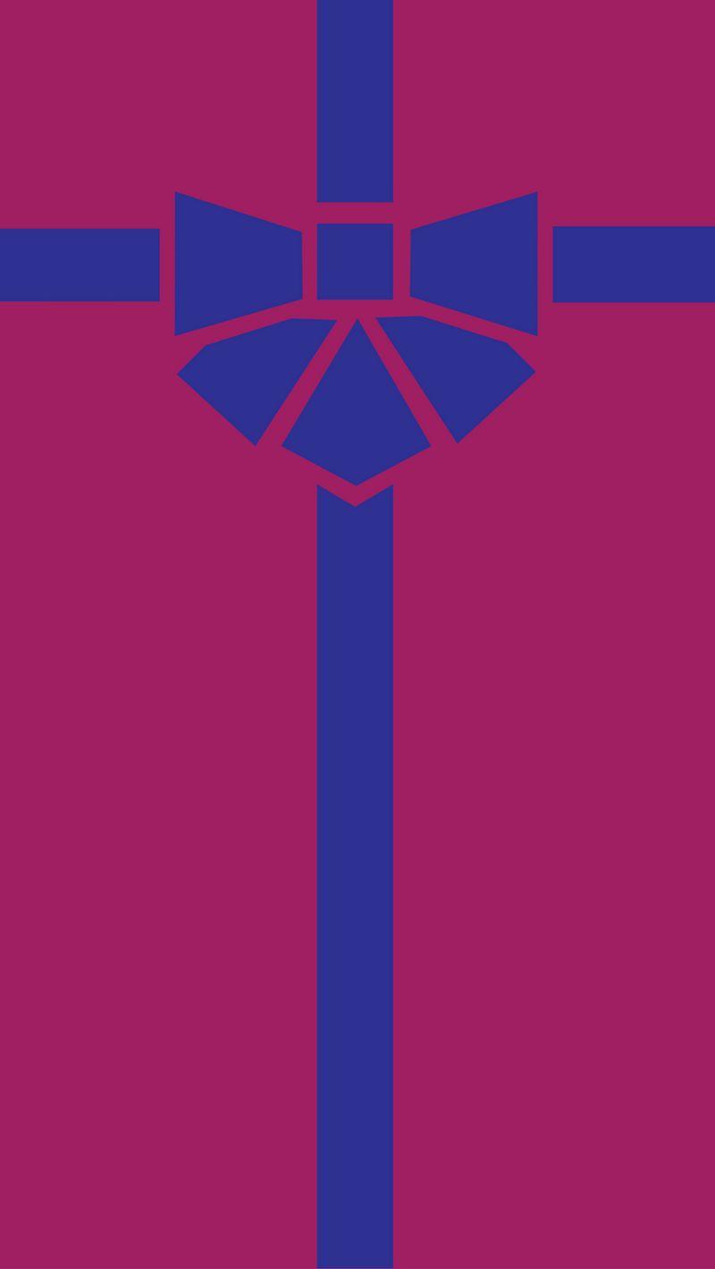 800x1420 Wallpaper gift, box, ribbon, bow, minimalism, vector