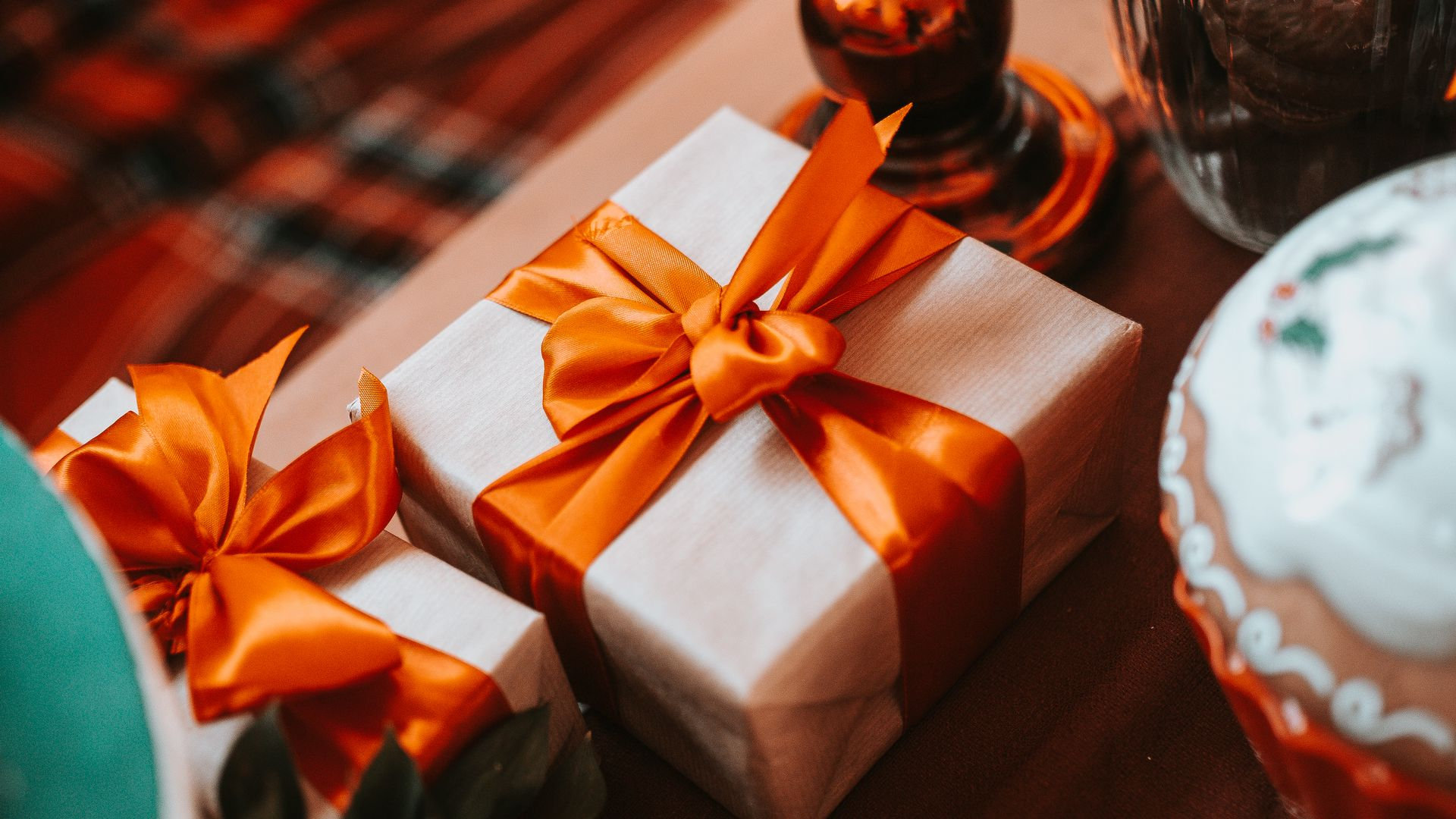 1920x1080 Wallpaper gift, box, ribbon, holiday, aesthetics