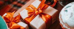 Preview wallpaper gift, box, ribbon, holiday, aesthetics