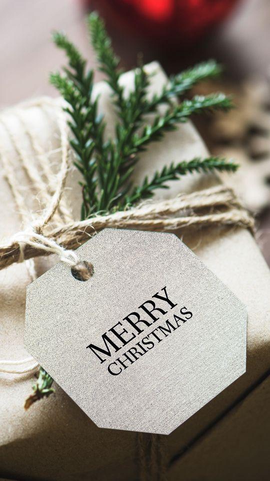 540x960 Wallpaper gift, christmas, new year, tag, box