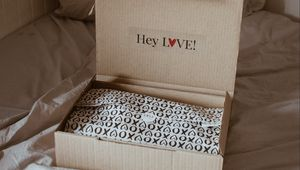 Preview wallpaper gift, packaging, box, inscription, fabric