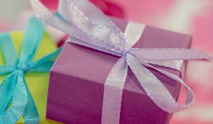 Preview wallpaper gift, wrap, ribbon, bright