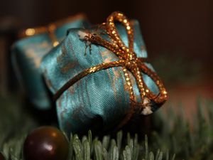 Preview wallpaper gift, wrap, ribbon, christmas, new year